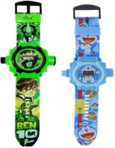 Buy 1 Get 2 Cartoon Projector & Digital Watch For Kids 24 Images