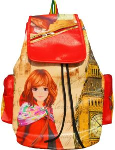 Printed Casual Purse Fashion School Leather Backpack For Girls & Womens (code -printed Pithu)