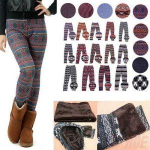 Buy 1 Get 1 Free Woollen Winter Wear Leggings For Women In Assorted Prints