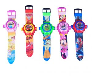 24 Cartoon Projector & Digital Watch For Kids