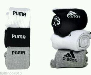 Socks (Men's) - Set of 6 pairs - 3 Adidas   3 Puma logo Sports ankle length socks