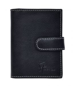 Hawai Leather 24 Flap Card Holder Button Closure