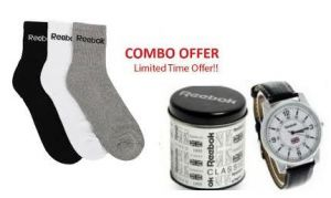 Combo Offer Rbk Watch And Rbk Socks