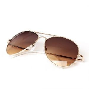 Sunglasses, Spectacles (Mens') - Reebok Aviator Golden Sunglasses