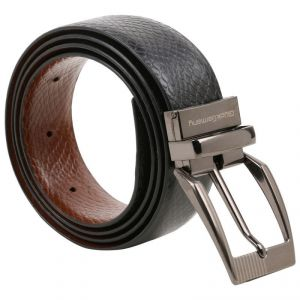 Men's Accessories - Gluck Germany Leather Black Dark Brown Reverseable Belt