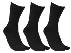 "Neska Moda Pack Of 3 Pair Women""s Solid Cotton Crew Length Socks"