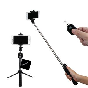 Bluetooth Remote, Bluetooth Shutter Selfie Stick With Tripod Stand For Mobile Phone