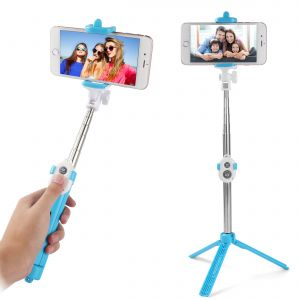 Signature Bluetooth Remote And Tripod Stand, Bluetooth Selfie Stick With Tripod
