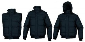 Jackets - Black Quilted Teenager Jacket Hooded 3 In 1 Jacket For Boys (Detachable Hood-Sleeves)