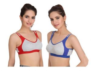 Set Of 2 Cotton Sports Air Bra