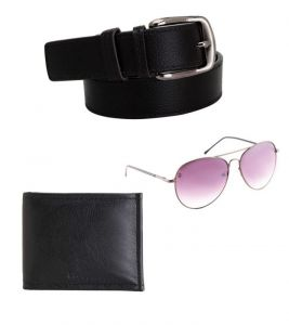 Elligator Stylish Belt & Wallet With Spartiate Sunglass Combo For Men