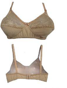 Skin Coloured Bra, Designed With Net Finish (code- Style Skin)