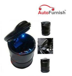 Autofurnish Car Blue LED Ash Tray Excellent Quality Must For Every Car