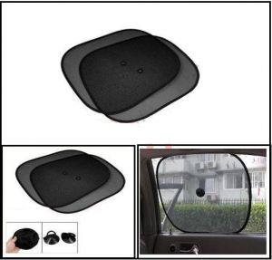 Car Side Window Sunshades Stick On Sun Shade - Set Of 4 PCs - Black