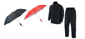 Pack Of 2 Umbrella With Rain Breaker Complete Rain Suit With Carry Bag