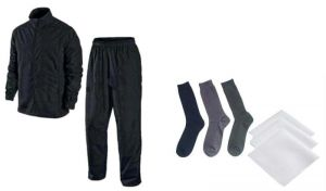 Rain Breaker Complete Rain Suit With Carry Bag And Set Of 3 Cotton Socks With Handkerchiefs