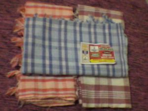 Set Of Three Bath Towels