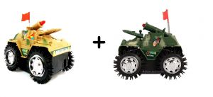 Buy 1 Get 1 Free Tumbling Tank Toy For Kids, Battery Operated, Full Fun