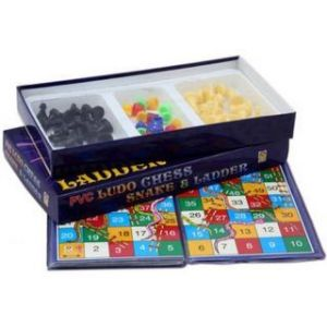 Indoor Games - 6th Dimensions 3 In 1 Pack- Chess Ludo Snake Ladder