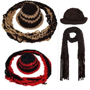 Buy 2 Ladies Winter Woolen Cap And Get 2 Weave Muffler Free