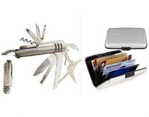 11 In 1 Stainless Army Knife Aluminium Security Credit Card Wallet