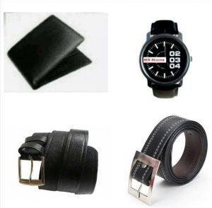 Combo Offer Wallet, Watch And 2 Belt