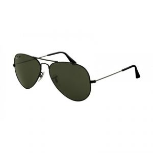 EDGE Plus Black Aviator Sunglasses With Black Frame