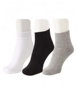 Jockey Mens Cotton Multicolor Socks (3 Pair Socks- Black, White , Grey) (code - Jockey-1)