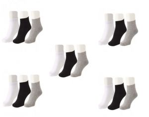 Jockey Mens Cotton Multicolor Socks (15 Pair Socks- 5 Black, 5 White , 5 Grey) (code - Jockey-5)