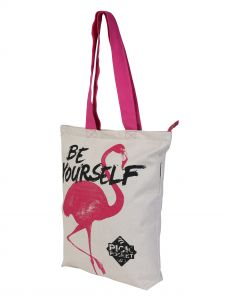 Pick Pocket,See More,La Intimo,Jharjhar Women's Clothing - Pickpocket Pink Crane Tote