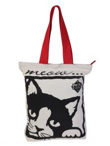 Pick Pocket,Mahi,Parineeta,Clovia Women's Clothing - Pickpocket Black Kitty Accrue Tote