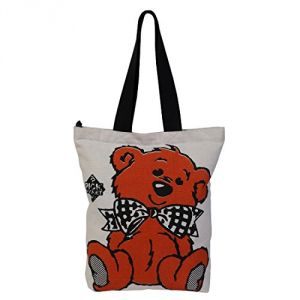 Triveni,Platinum,Jagdamba,Pick Pocket,Kiara,Gili Women's Clothing - Pickpocket Teddy Bear Accrue Tote