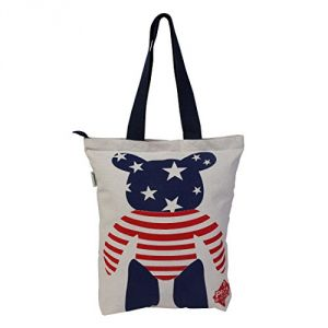 Pick Pocket,Parineeta,Arpera,Surat Tex Women's Clothing - Pickpocket Blue & Red Teddy Accrue Tote