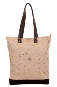 Pick Pocket Pu Beige Tote
