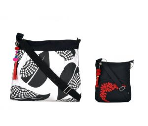 Combo Of Pick Pocket Black And White Sling Bag