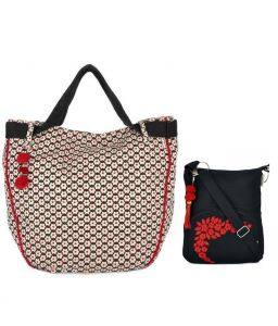 Combo Of Pick Pocket Accrue Joli With Pompom Lace And Tassel With Black Small Sling Bag