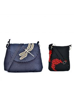 Combo Of Pick Pocket Danger Black Dragon Fly With Black Small Sling Bag