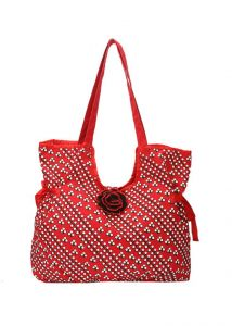Pick Pocket Red Canvas Hand Bag