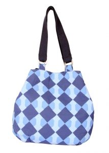 Pick Pocket Canvas Denim Shaded Jholi Bag