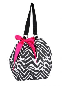 Rcpc,Ivy,Pick Pocket Women's Clothing - Pick Pocket Canvas Zebra print Jholi bag