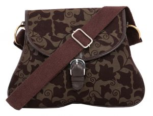 Pick Pocket Brown Floral Sling