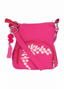 Pick Pocket Canvas Fuschia Small Sling Bag