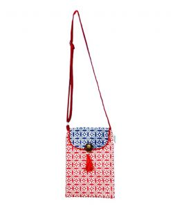 Accrue Blue And Red Sling Bag