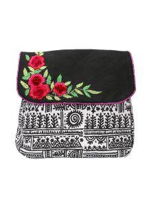 Pick Pocket Women's Clothing - Pick Pocket Black Canvas Sling Bag