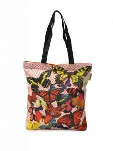 Pick Pocket Red Canvass Tote Bag - Tofly49