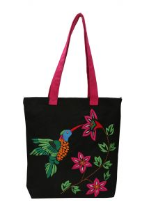 Pick Pocket Handbags - Pick Pocket Black Canvas Tote Bag