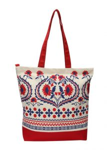 Pick Pocket Red Canvas Tote Bag