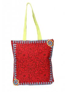 Vipul,Pick Pocket,Soie,The Jewelbox,Kiara,Surat Diamonds Handbags - Pick Pocket Maroon Canvass Tote Bag - Toredemb64