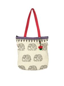 Accrue Tote With Elephant Motif.