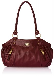 Handbags - Fostelo Swann Magenta Leather Handbag